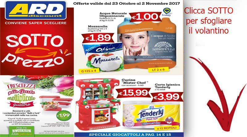 Volantino ard discount sicilia offerte valide dal 23 for Volantino ard discount milazzo