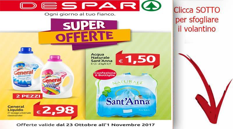 Volantino despar sicilia valido dal 23 ottobre sino al 1 for Volantino acqua e sapone sicilia