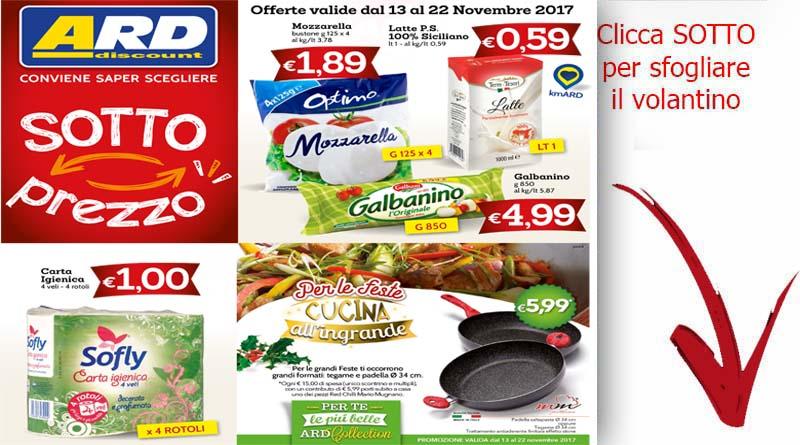 Volantino ard discount valido dal 13 al 22 novembre for Volantino ard discount milazzo