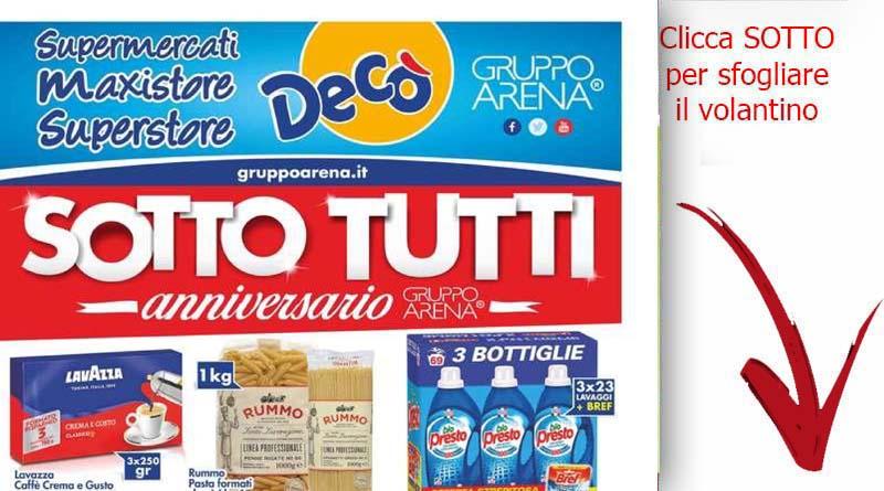 Volantino dec valido fino al 9 novembre ricette for Gruppo arena volantino
