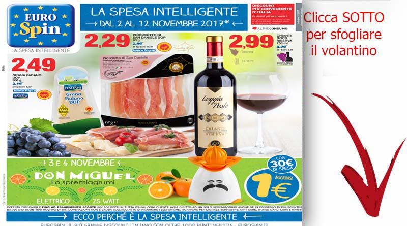 Volantino eurospint sicilia catania novembre 2017 for Volantino super conveniente catania