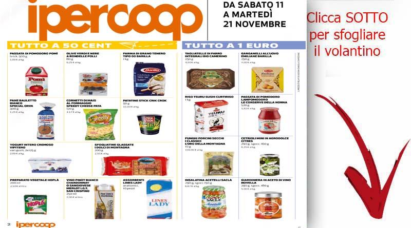 Volantino ipercoop valido dal 11 al 21 novembre ricette for Brico misterbianco