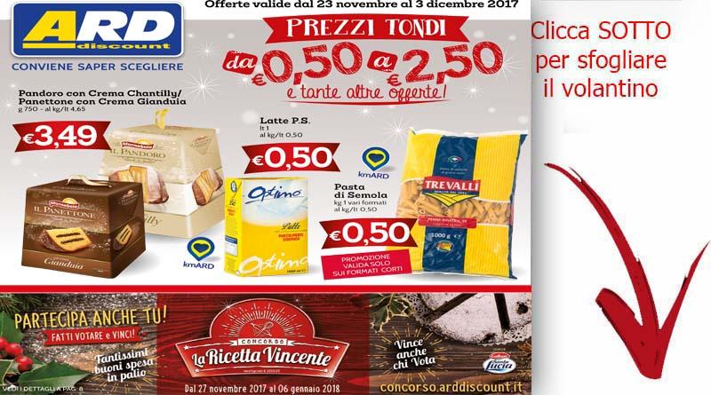 Volantino ard discount valido da 23 al 3 dicembre for Ard volantino messina