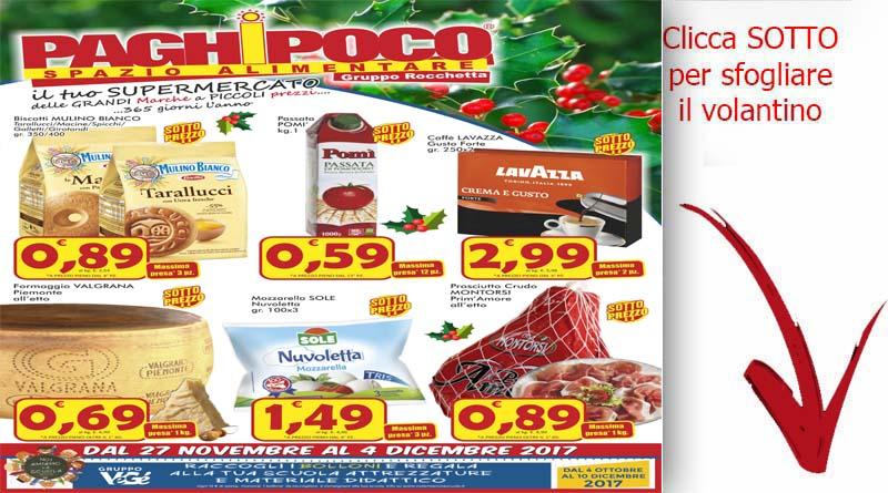 Volantino paghi poco valido dal 27 al 4 dicembre for Gruppo arena volantino