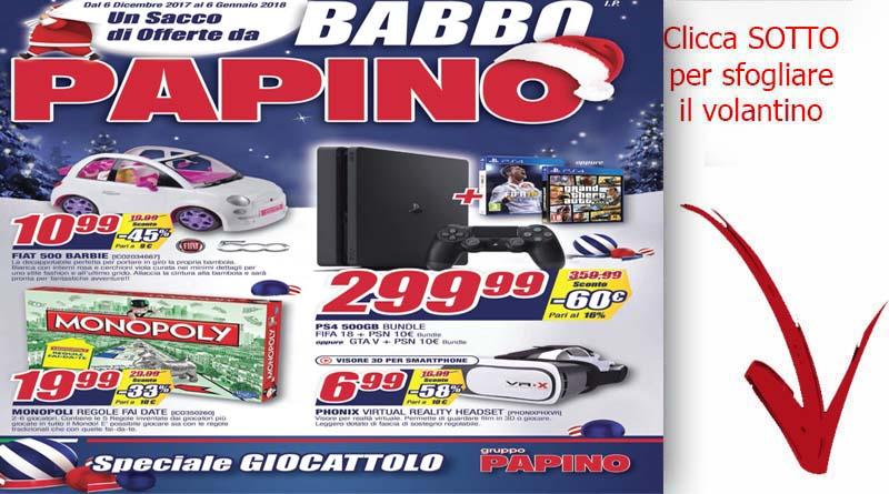 Offerte papino giocattoli di natale ricette siciliane for Papino arredi catania