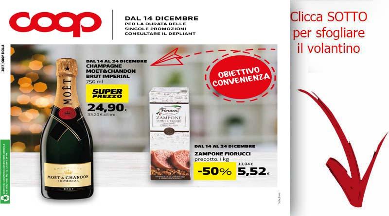 Volantino offerte coop sicilia dal 14 al 24 dicembre for Volantino ard discount milazzo