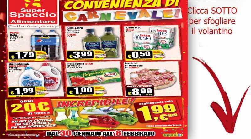 Super spaccio alimentare volantino valido fino all 8 for Volantino ard discount milazzo