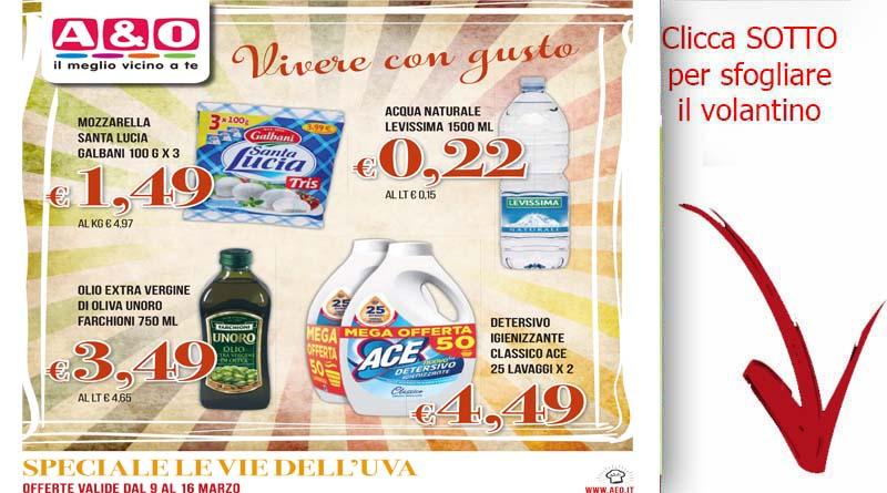 Volantino a o valido dal 7 al 16 marzo volantini ricette for Volantino acqua e sapone sicilia