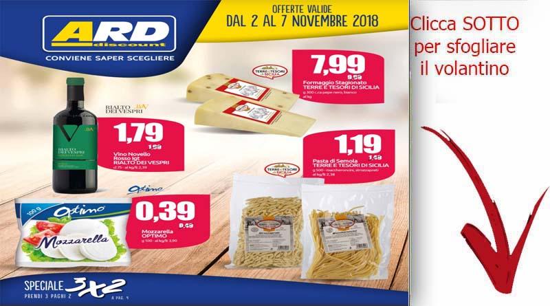 Volantino ard discount valido dal 2 al 7 novembre for Volantino ard discount milazzo