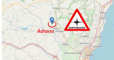 Terremoto Sicilia 3 scosse nella notte ad Adrano