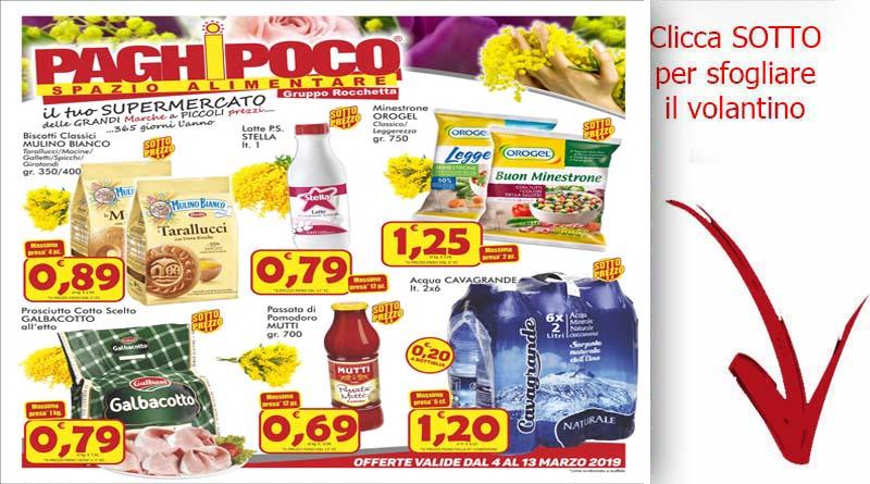 Volantino paghi poco dal 4 al 13 marzo sicilia offerte for Volantino acqua e sapone sicilia