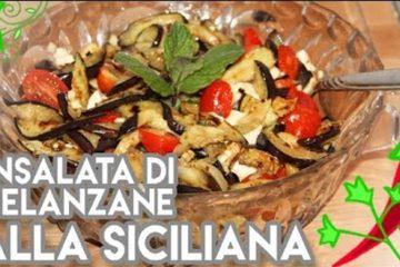 Ricette siciliane insalata di melanzane