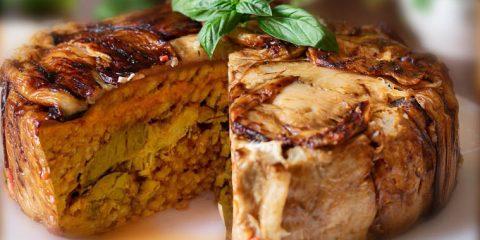 timballo di riso al forno ricetta siciliana